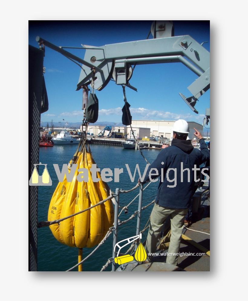 Davit Load Testing Onboard Naval Vessel California