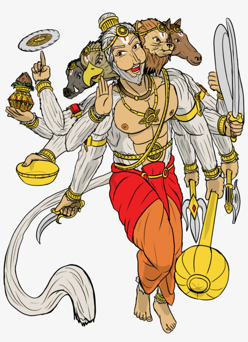 Hanuman drawing warrior