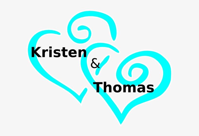 Wedding blue. Heart clip art clipart