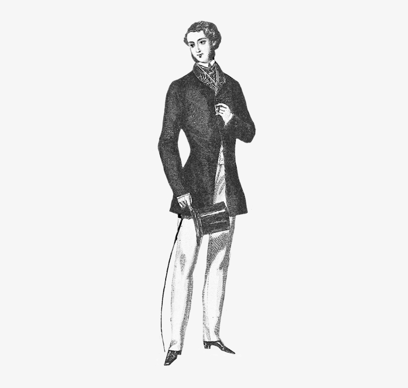 Young Man S Fashion Clothes 1852 Victorian Era Man Clipart Transparent Png 215x709 Free Download On Nicepng
