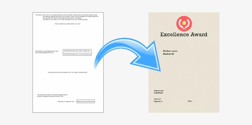 Certificate Template Transformed Into A Certificate Design