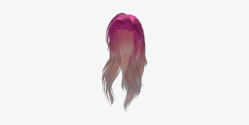 Pretty Long Pink Girl - Roblox Girls Hair Codes Transparent