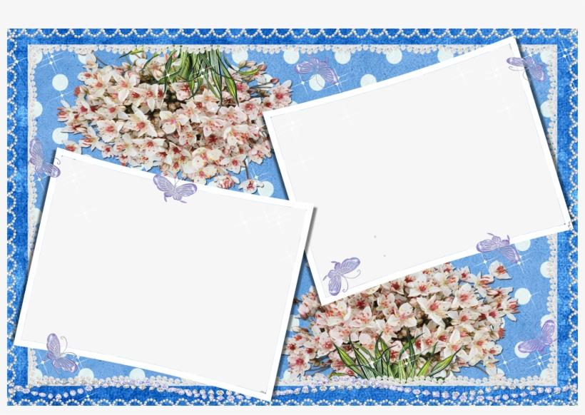 Blue Wedding Frames Png Transparent PNG - 1500x992 - Free