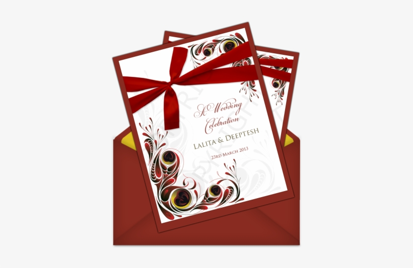 Letter Style Email Indian Wedding Invitation Design New Year 2012