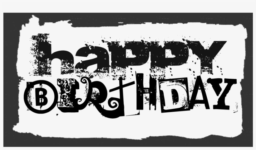 Happy Birthday Text Black Png