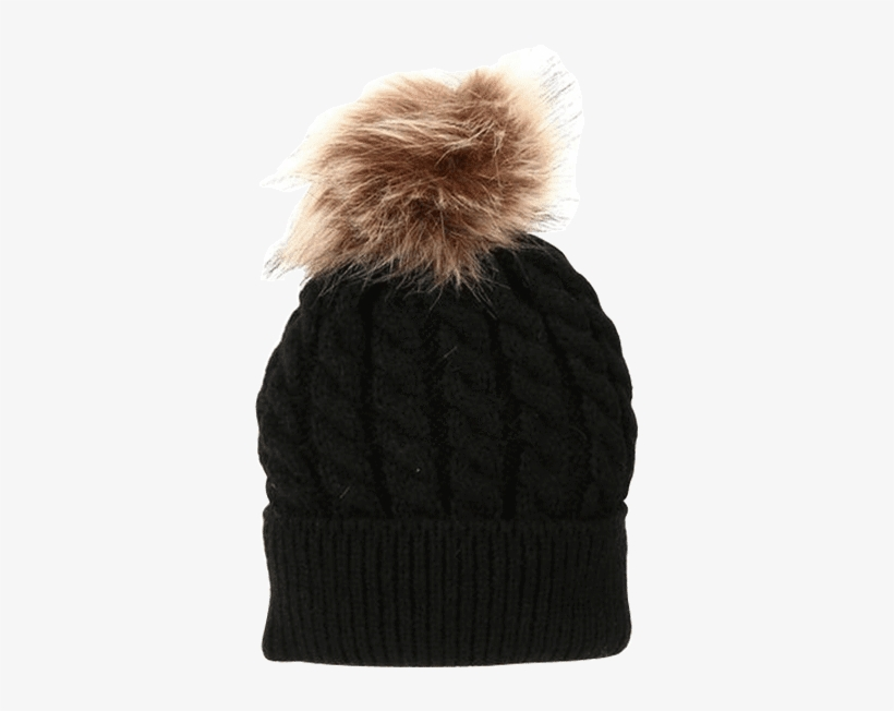 9cc48f5d071a0 Petite Bello Hat Black   Small Fur Ball Mommy   Baby - Hot Women Mother Child  Baby Warm Winter Knit Beanie