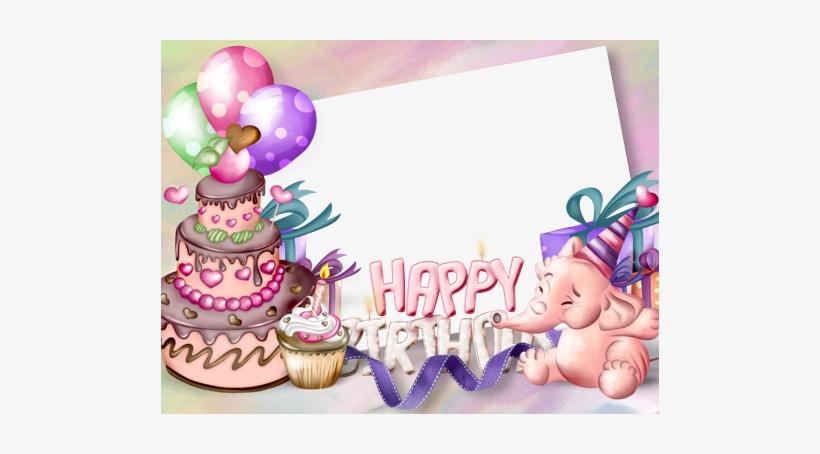 Photo Frame Birthday Cake Cake Happy Birthday Frame Transparent
