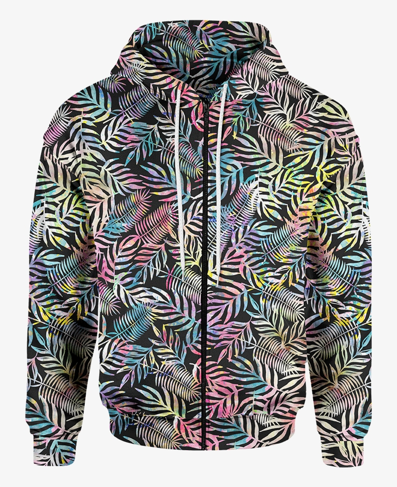 c6b8a88f Rainbow Jungle Zip Hoodie - Clothing Transparent PNG - 900x900 ...