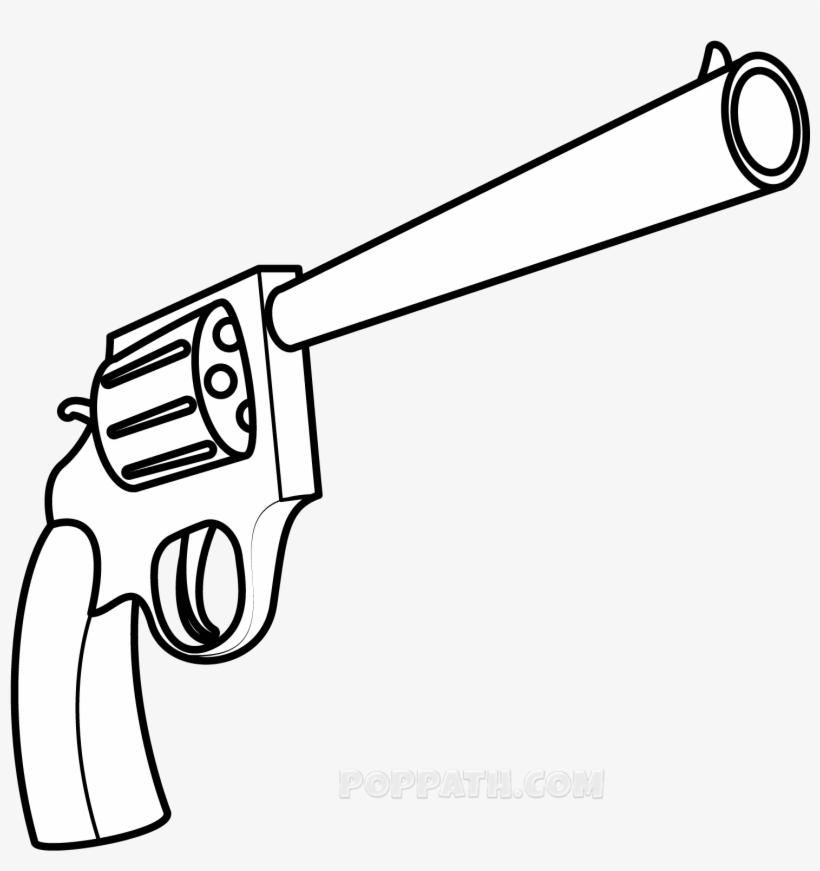Simple Gun Drawing Old Gun Drawing Easy Transparent Png
