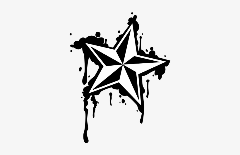 045030d90 Dripping Nautical Star By Lintastic On Deviantart Graphic - Dripping  Nautical Star
