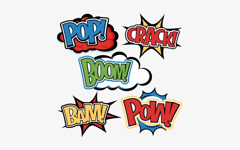 Superhero Words Svg Cutting Files For Scrapbooking Superhero Words Transparent Png 432x432 Free Download On Nicepng