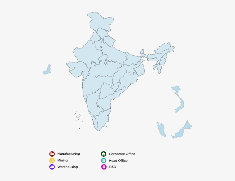 Blank Political Map Of India.Map Blank Political Map Of India Transparent Png 518x590 Free