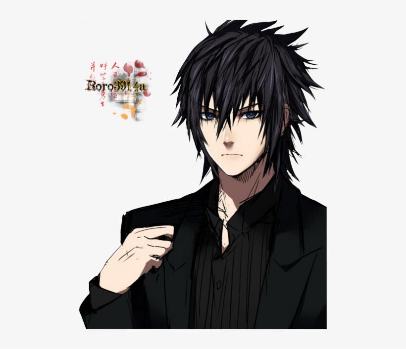 Noctis Lucim Caelum Anime Boy Black Hair Transparent Png 500x626 Free Download On Nicepng