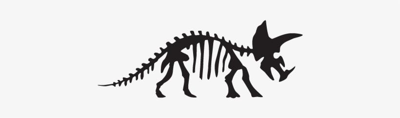 Triceratops Dinosaur Fossil Wall Art Decal Dinosaur Skeleton
