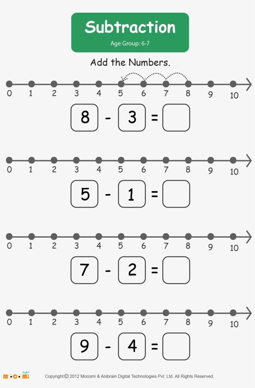 Subtraction Worksheet For Kids Worksheets Learn More Number Line Addition Worksheet For Kg Transparent Png 1654x2339 Free Download On Nicepng [ 1245 x 820 Pixel ]