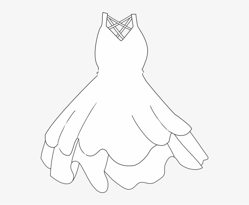 Robe 20clipart - White Dress Clipart Transparent PNG - 552x595