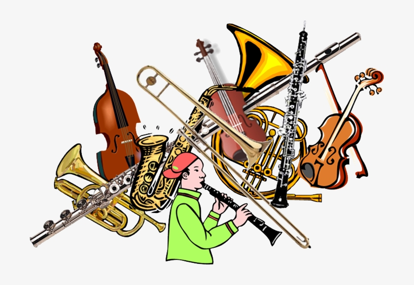 Orchestra Clipart Marching Band Instrument - Instrumental