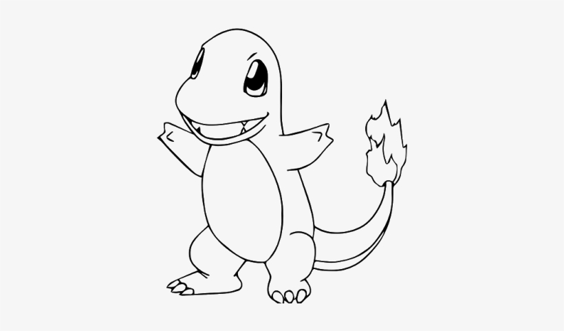 Pokemon Charmander Coloring Page - Pokemon Coloring Pages Charmander ...