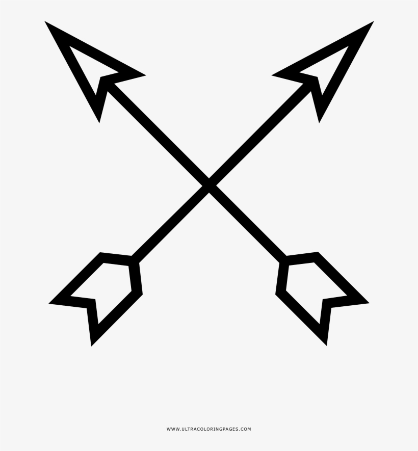 Crossed Arrows Coloring Page Cross Arrows Transparent Png 1000x1000 Free Download On Nicepng