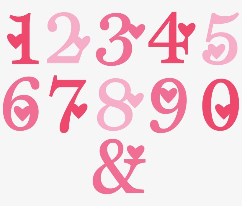 Valentine Numbers Svg Cut Files Valentine Alphabet Valentine Numbers Transparent Png 800x617 Free Download On Nicepng