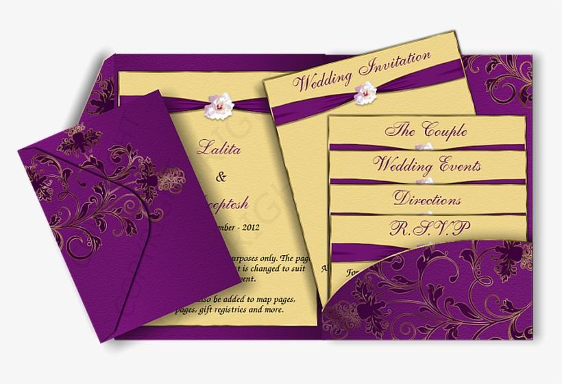 Modern Elegant Wedding Invitations Cards Indian Marriage Invitation Design Transparent Png 670x426 Free Download On Nicepng