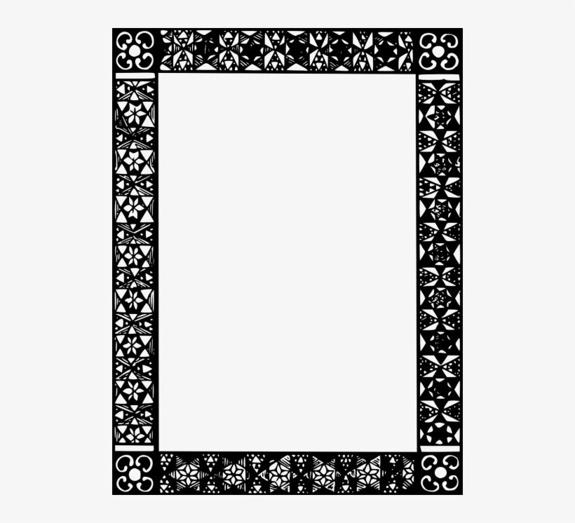 Frames,black And - Islamic Borders Black And White