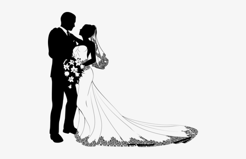 wedding clipartprintable bride and groom silhouette