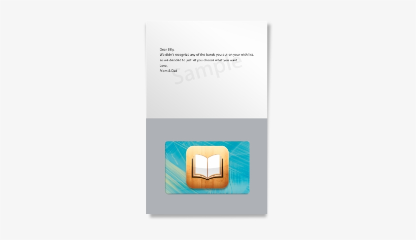 Ibooks Gift Card - Itunes Gift Card Transparent PNG