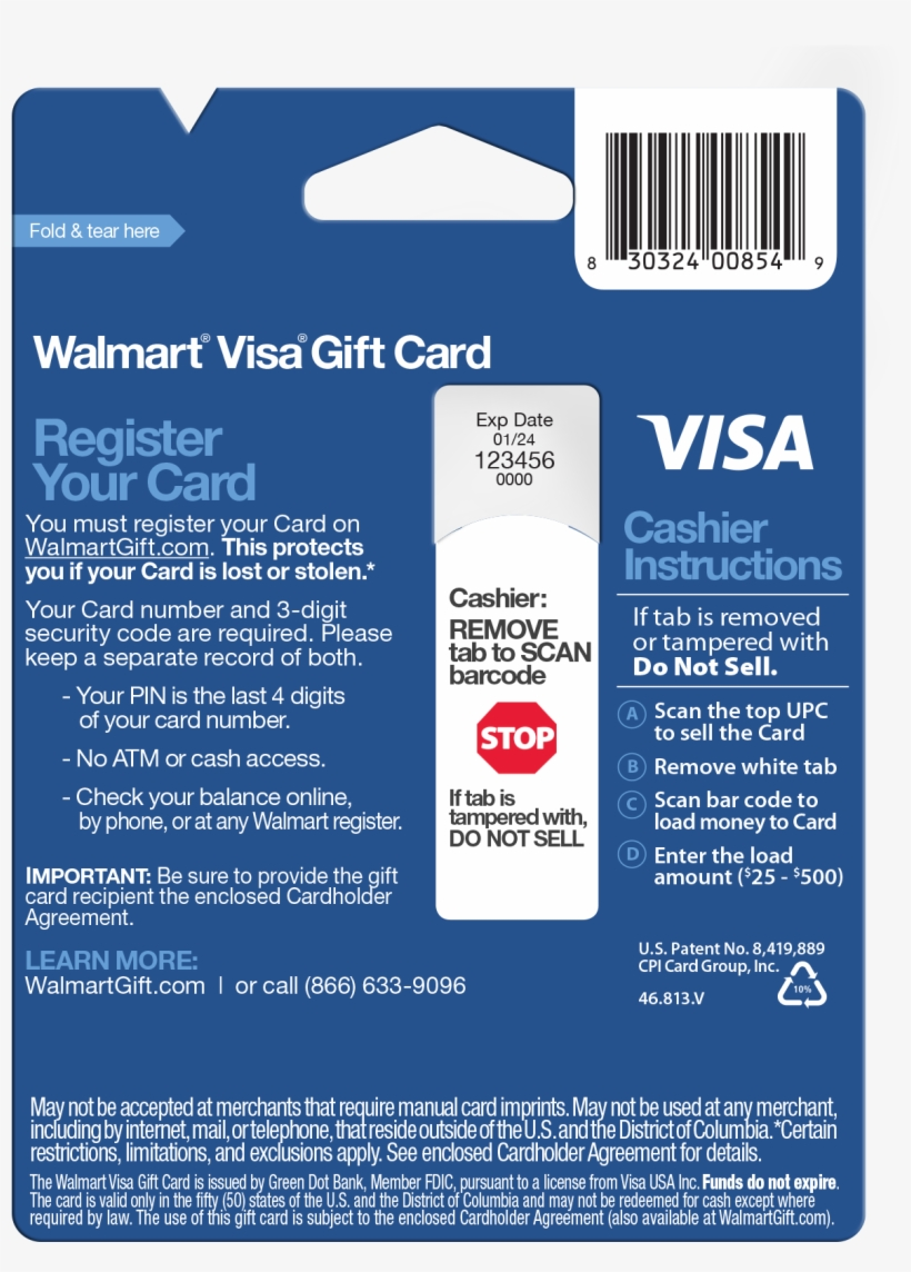 Visa Gift Cards At Walmart Background