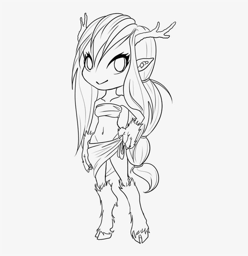 Anime Lineart Coloring Book Transparent Png 414x800