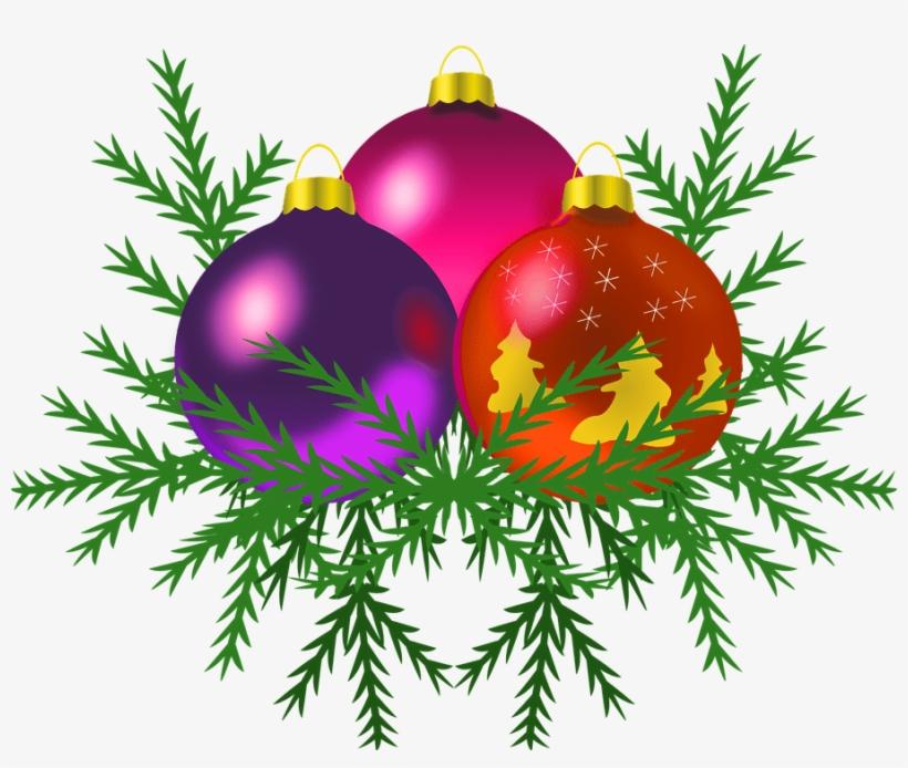 Christmas Tree Transparent Background.Christmas Baubles On Tree Transparent Background Christmas