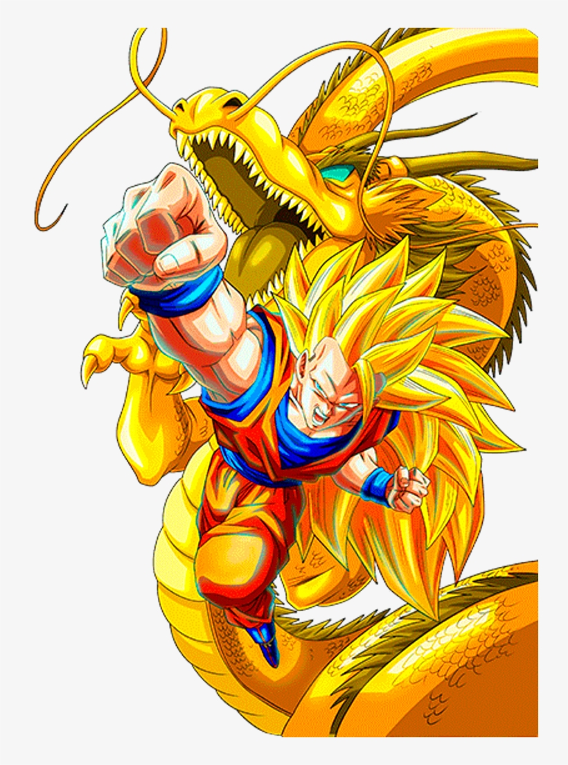 Goku Dragon Fist By Alexiscabo1 D9lto7k Super Saiyan 3 Goku Dokkan Transparent Png 734x1024 Free Download On Nicepng