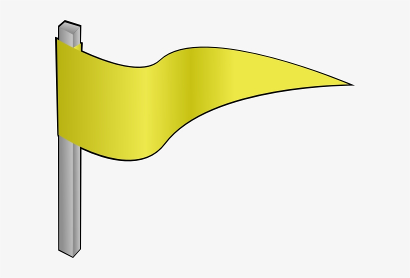 Waving Yellow Flag Clip Art - Waving Yellow Flag Gif