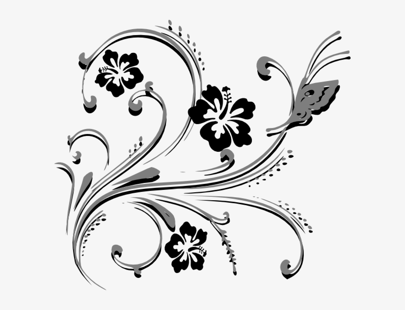 Butterfly Scroll Clip Art - Wedding Invitation Pictures Clip Art