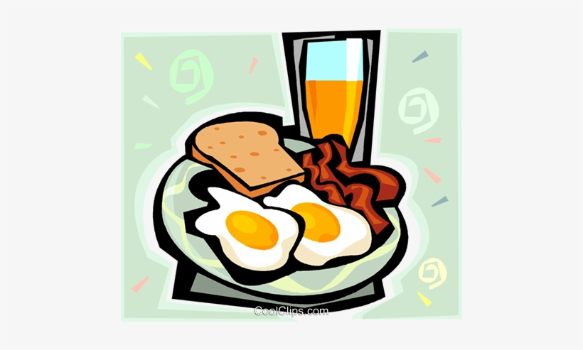 Bacon And Eggs Royalty Free Vector Clip Art Illustration Reading Comprehension About Healthy Food Transparent Png 480x413 Free Download On Nicepng