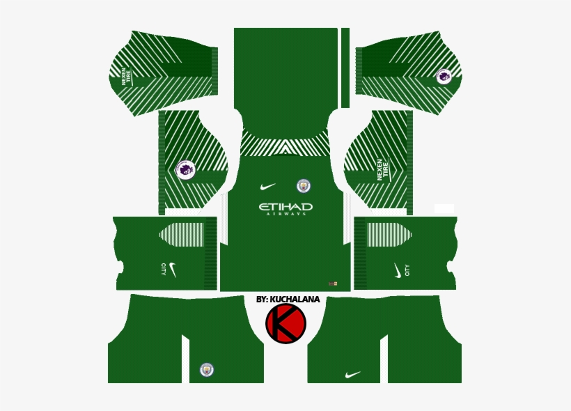 2d9a9d685e9 Manchester City Goalkeeper Home Kits - Dream League Soccer Kit Italy 2018