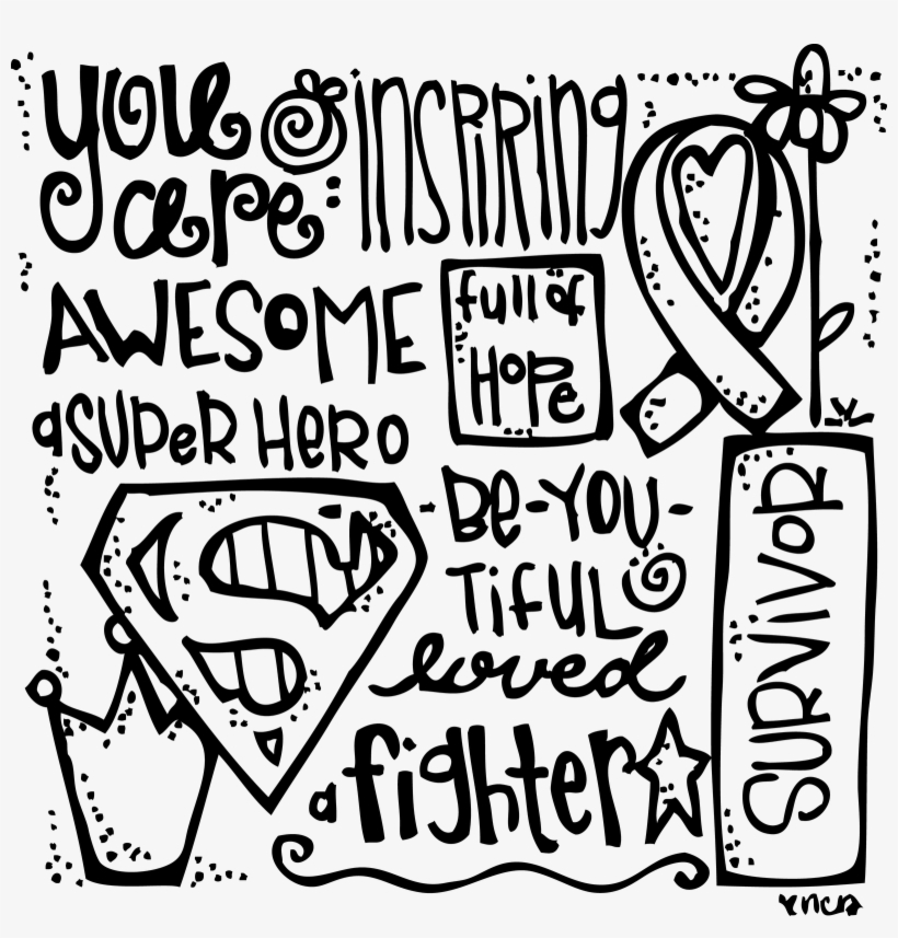 Breast Cancer Awareness Month Coloring Pages With Fight - Breast ...