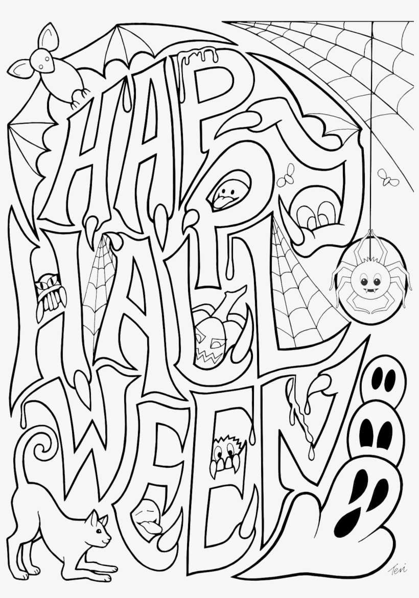 25+ Free Printable Halloween Coloring Pages (With images ... | 1171x820