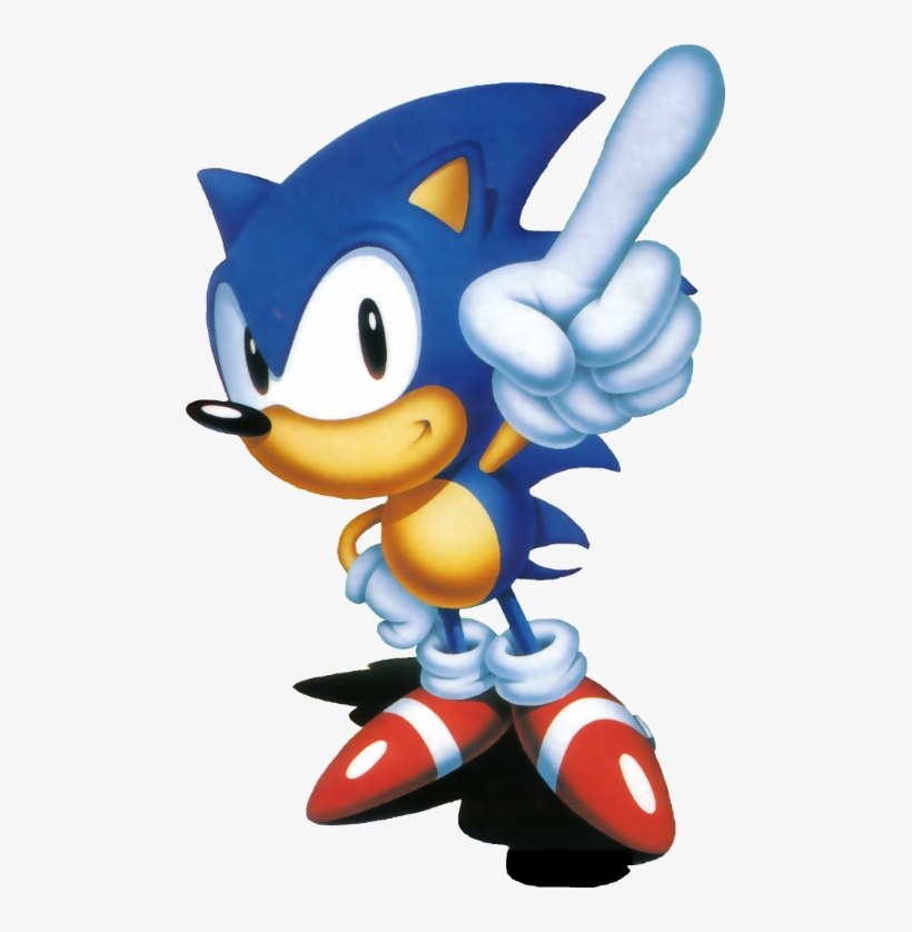 Were There Eye Colors Originally Brown Sonic The Hedgehog Pointing Transparent Png 485x758 Free Download On Nicepng