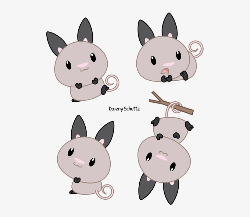 Chibi Big Eared Opossum By Daieny Chibi Animals By Daieny