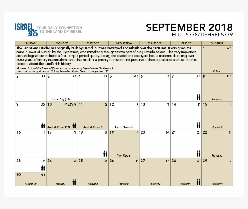 jewish holidays in the month of september