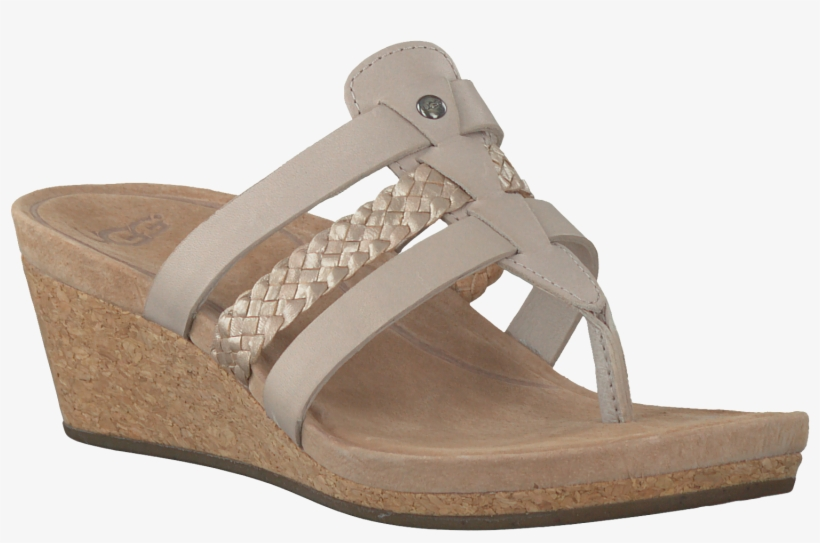 ccbbc628bb0 Beige Uggs Slippers - Women's Ugg Maddie Wedge Sandal Horchata ...