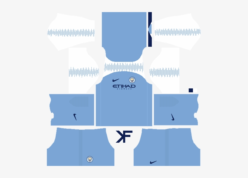Manchester City Fantasy Home Kit - Atletico Madrid Kit Dls