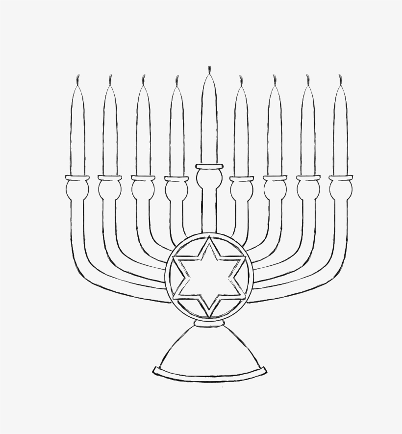The Big Candle Of Menorah Coloring Pages Hanukkah Coloring Pages Transparent Png 700x825 Free Download On Nicepng