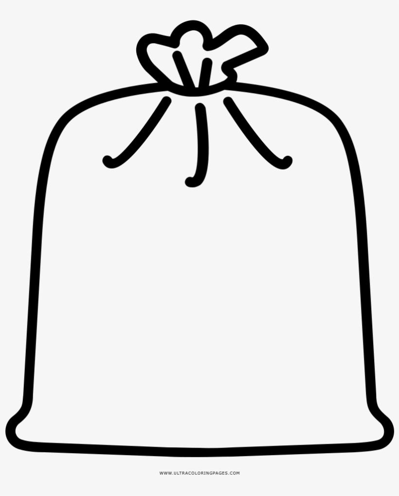 Garbage Bag Coloring Page   Dibujo De Bolsa Para Colorear