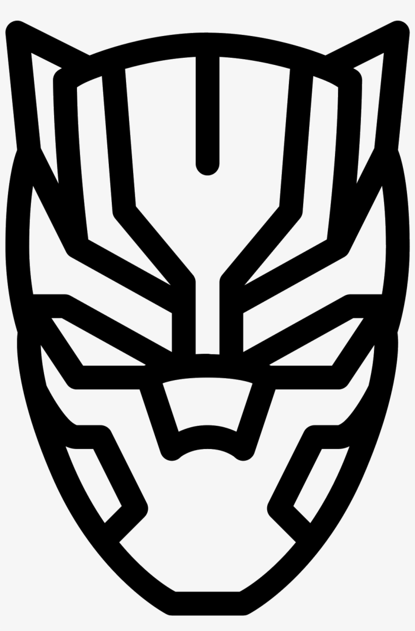 Black panther logo black panther mask outline