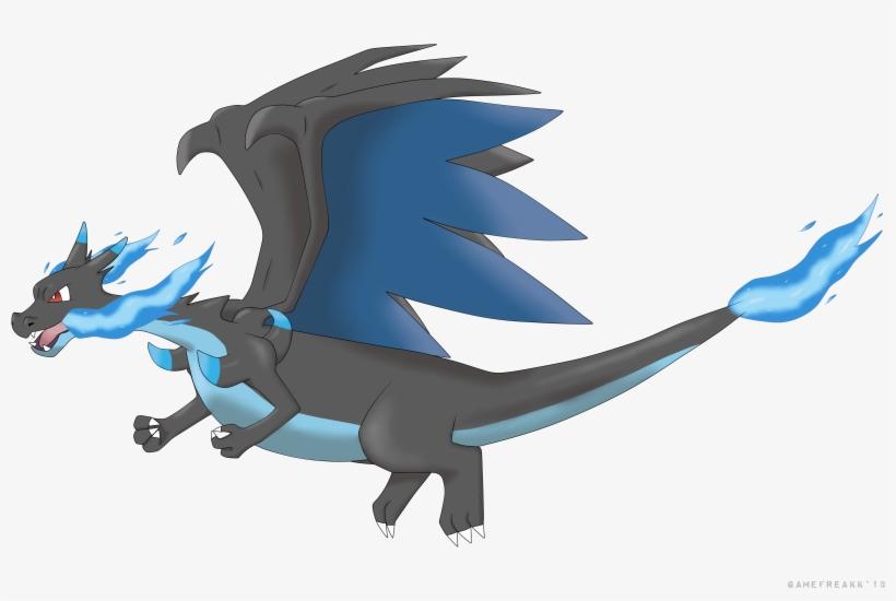 Mega By Gamefreekk On Deviantart Mega Charizard X Flying
