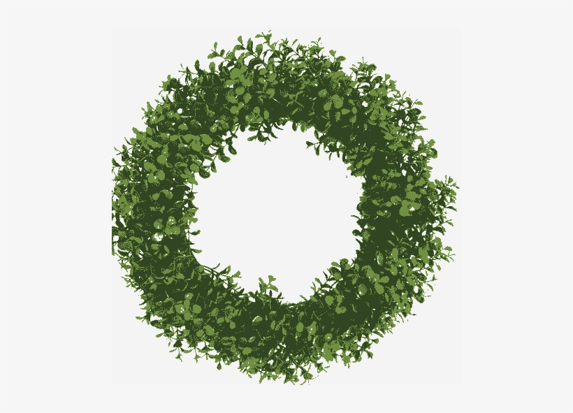 Topiary Letter Ball Transparent Background Christmas Wreath Vector