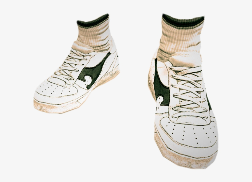 2ba74a504f0fa3 Dead Rising White Tennis Shoes 5 - Cb Shoes Hd Png Transparent PNG ...