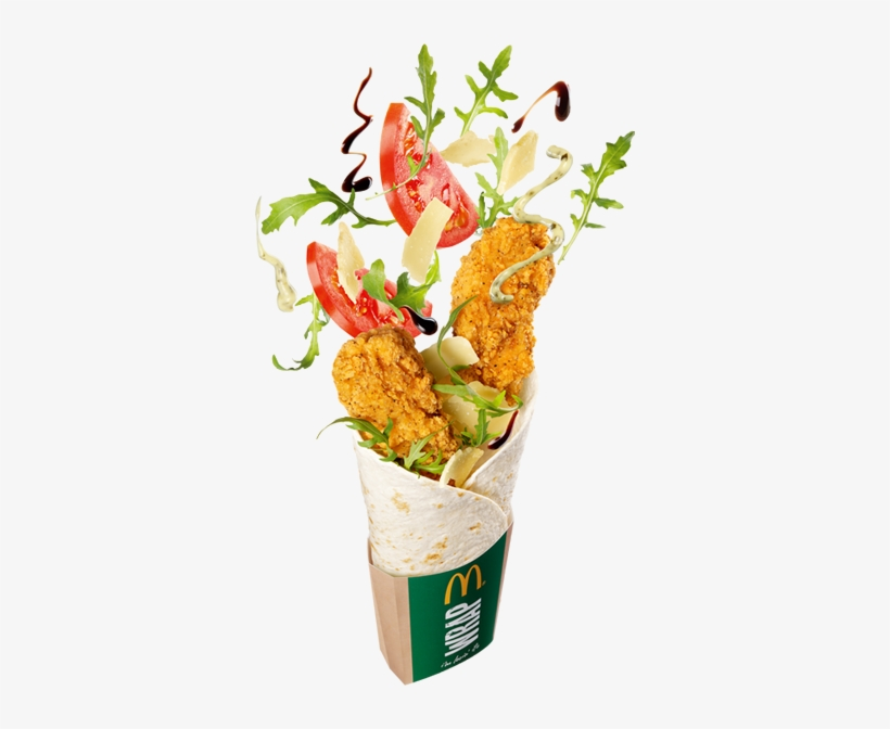 Grilled Chicken Salad Wrap Chicken Salad Wrap Mcdonalds Transparent Png 350x592 Free Download On Nicepng